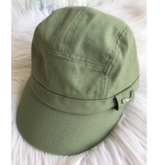 Puma Women's Cadet Hat Green Corduroy Small/Medium
